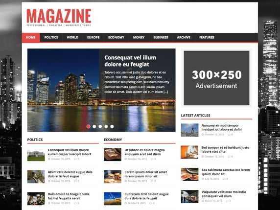 free and fast website themes for news-HM magazine lite