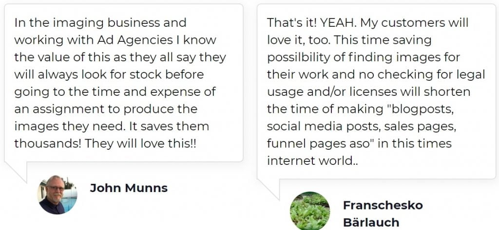 Great testimonials-cheap stock photos