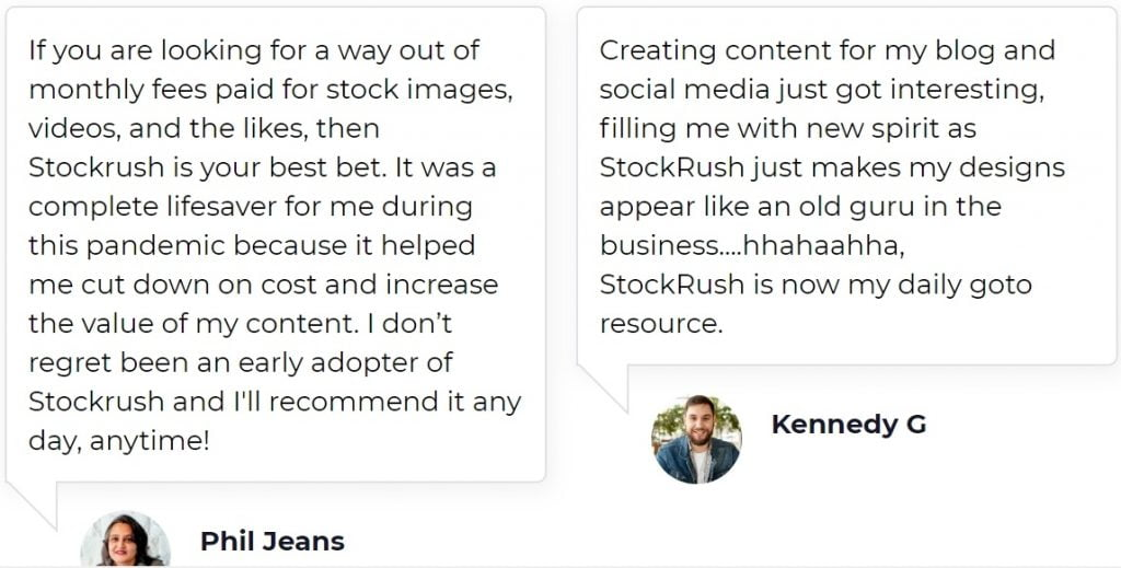 cheap stock photos -testimonials