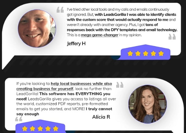 perfect lead generation tool - testimonials