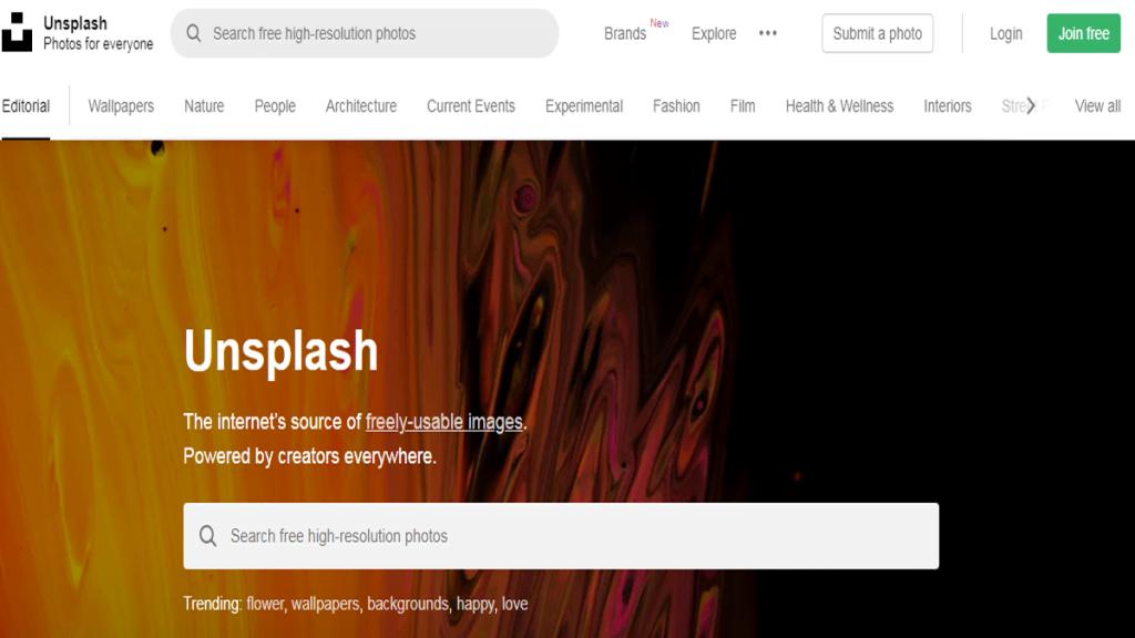 unsplash - free images