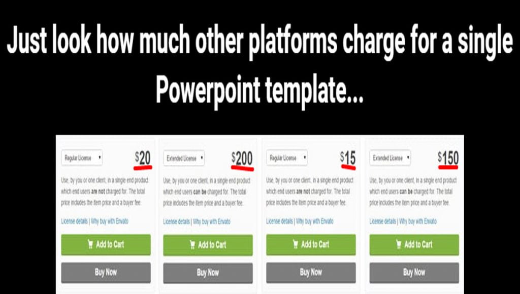 some templates PPT price!