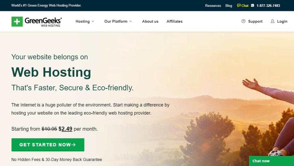 Best web hosting for WordPress-GreenGeeks!