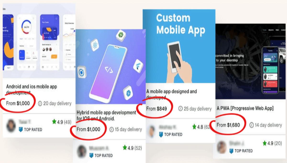 mobile app design no coding